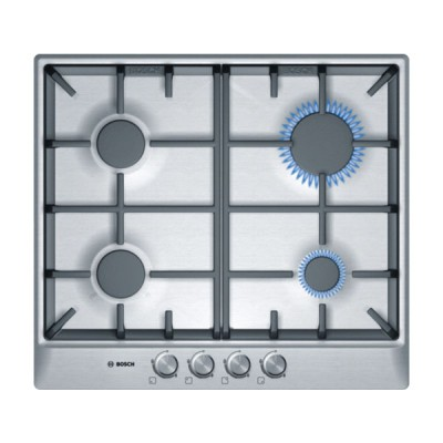 Bosch PCP615B90E 60CM Brushed Steel Gas Hob