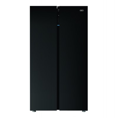 Defy DFF413 698L Side-by-Side Black Glass Fridge-Freezer