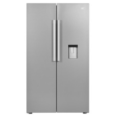 Defy DFF418 F790 694L Side By Side Refrigerator with Water Dispenser - Metallic