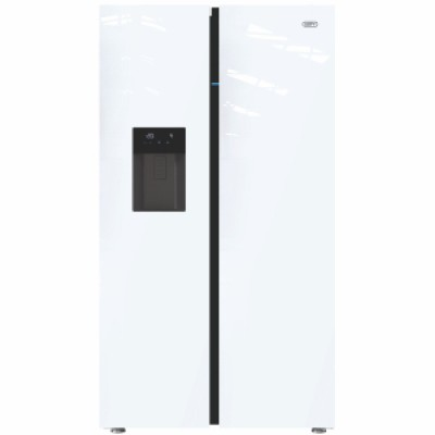 Defy F790 680L Side by Side Glass Eco Refrigerator with Water Dispenser- White