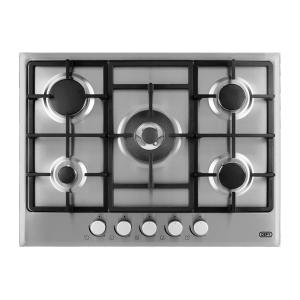 Defy 700 5 Burner Gas Hob on Stainless Steel