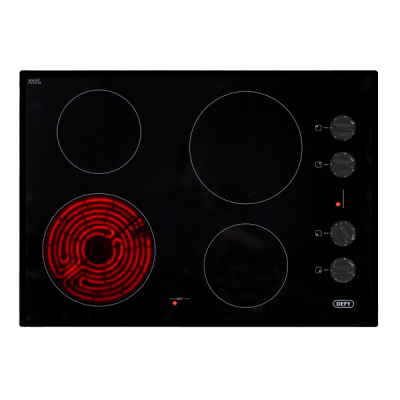 Defy 700 Gemini Ceran Hob with Control Panel - Black