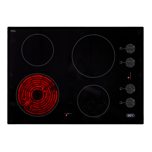 Defy 700 Gemini Ceran Hob With Control Panel Black
