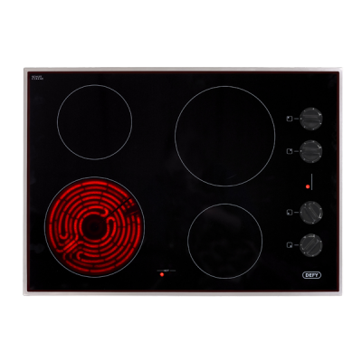Defy 700 Gemini Ceran Hob with Control Panel - Stainless Steel Frame