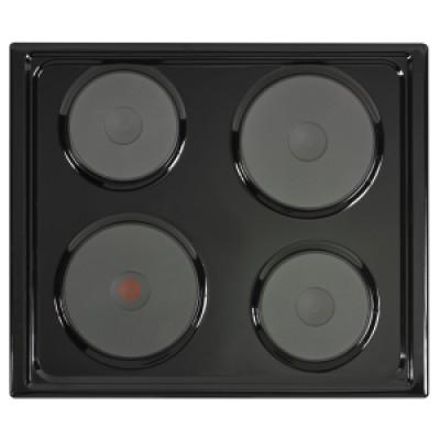 Defy DHD332 600 Slimline Solid Hob - Black