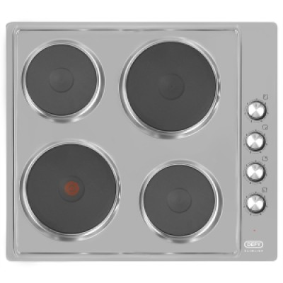 Defy DHD399 Slimline Solid Plate Hob With Control Panel - Stainless Steel