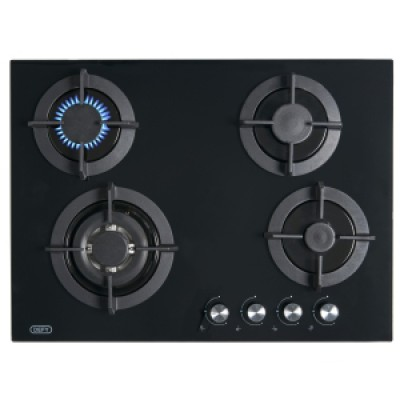 Defy DHG130 4 Burner Gas Hob on Glass
