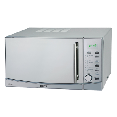 Defy 34L Grill Microwave Oven - Metallic
