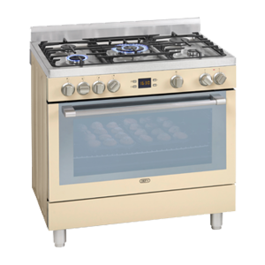 Defy 5 Burner Stainless Steel Gas/Electric Stove - Cream