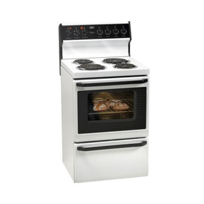 Defy 620 4 Spiral Plate Stove - White