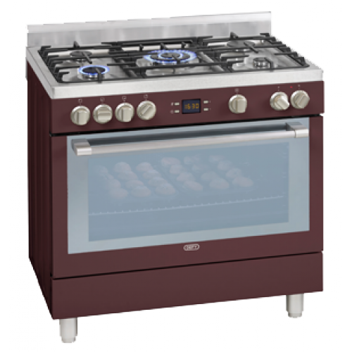 Defy 5 Burner Stainless Steel Gas Electric Stove Red