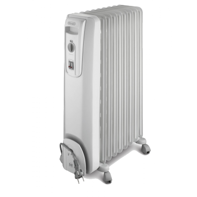 Delonghi 9 Fin Oil Heater - White