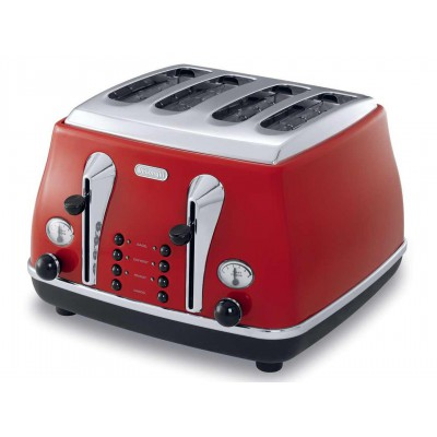 DeLonghi Icona Vintage 4 Slice Toaster Red
