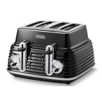 Delonghi Scultura CTZ4003.BK Toaster - Black