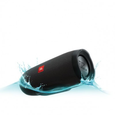 JBL Charge 3 Portable Bluetooth Speaker - Black