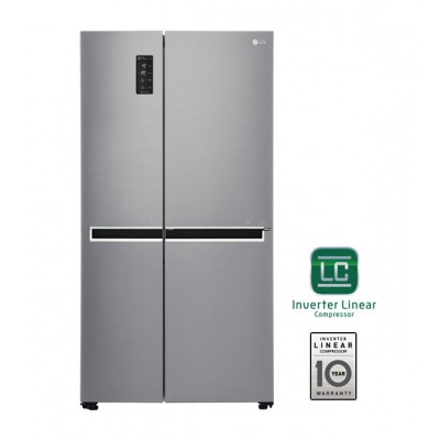 LG GC-B247SLUV 626L Side by Side Refrigerator with Inverter Linear Compressor