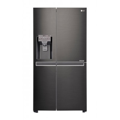 LG GC-J247CKBZ 665L Side by Side Fridge, Door-in-Door - Black Stainless Steel