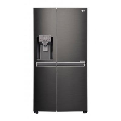 LG GC-J247CKBZ 665L Side by Side Fridge, Door-in-Door - Black Stainless Steel