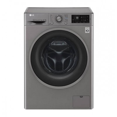 LG FH4U2TMP8S 8/5KG Washer Dryer Combo - Silver
