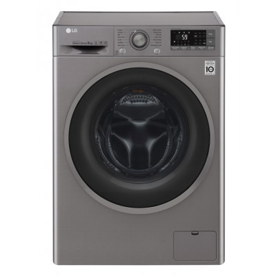 LG 8KG Front Loader Washing Machine - Stone Silver
