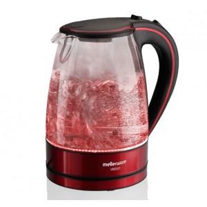 Mellerware 1.7L Vision Glass Kettle - Red