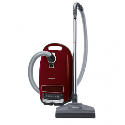 Miele SGEA0 Complete C3 Cat and Dog Power Line Cylinder Vacuum Cleaner - Tayberry Red