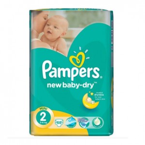 Pampers New Baby Mini 2 Value Pack 68S 3-6Kg (Pack of 2)
