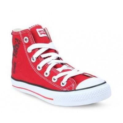 Ladies Levis Dunk Hi 2 Sneakers - Red
