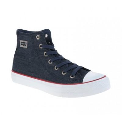 Mens Levis Dunk Pitch Hi Sneakers - Dark Navy Tweal