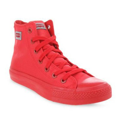 Mens Levis Dunk Pitch Hi Nylon Sneakers - Red