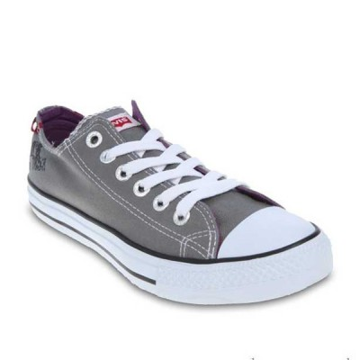 Mens Levis Dunk Pitch Lo Canvas Sneakers - Grey