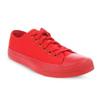 Mens Levis Dunk Pitch Lo Canvas Sneakers - Red
