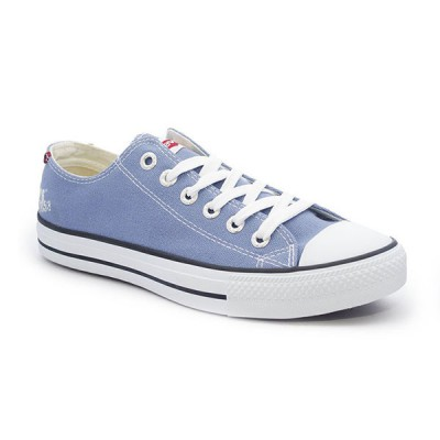 Mens Levis Dunk Pitch Lo Canvas Sneakers - Sky Blue