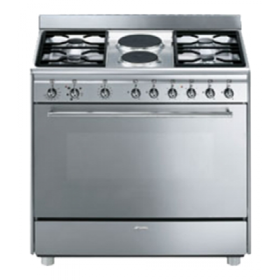 Smeg SSA92MFX9 90CM Concert Cooker with Gas/electric Hob