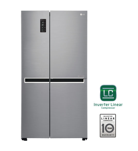 lg gc b247sluv 626l side by side refrigerator buy lg sxs. Black Bedroom Furniture Sets. Home Design Ideas