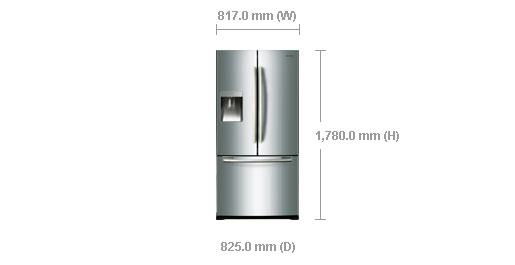 Samsung Rf67desl 710l Twin Cooling French Door Refrigerator