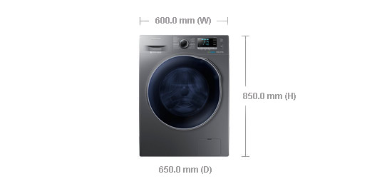 samsung wd90j6410 9 6kg washer dryer combo with eco bubble. Black Bedroom Furniture Sets. Home Design Ideas