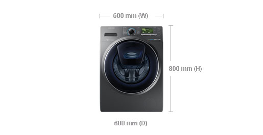washing machine front loader dimensions